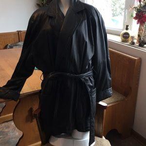 Ladies leather wrap jacket XL